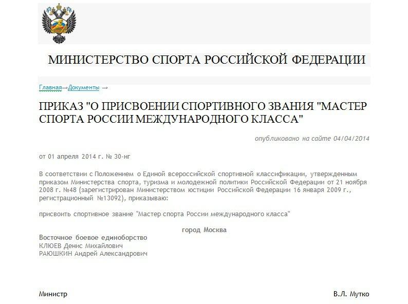 Андрей Раюшкин мастер спорта международного класса